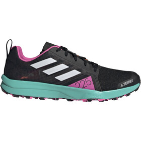 adidas TERREX Speed Flow Trail Running Shoes Men, core black/crystal white/screaming pink
